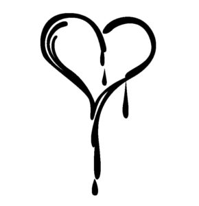 طرح تاتو موقت عاشقانه طرح قلب چکیده