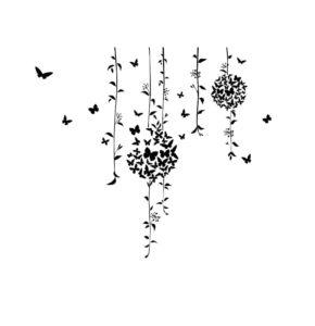 طرح تاتو موقت عاشقانه طرح قلب آویز دار پروانه ای