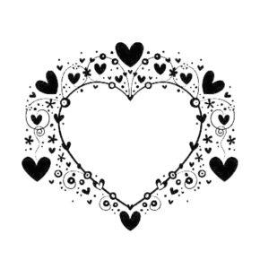 طرح تاتو موقت عاشقانه طرح قلب طرح دار شیک