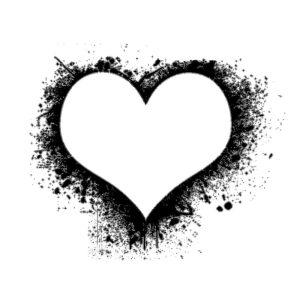 طرح تاتو موقت عاشقانه طرح قلب رنگ شده
