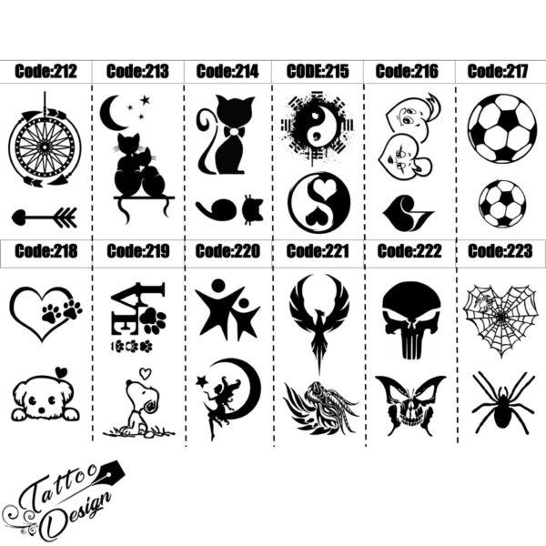 طرح های مختلف برای تاتو با اسپری