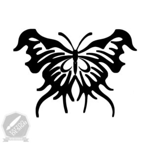 طرح سیاه و سفید پروانه
