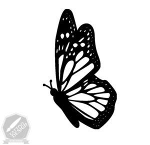 طرح خام پروانه برای تاتو