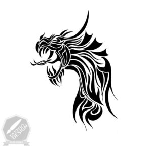 طرح تاتو اژدها (خام)