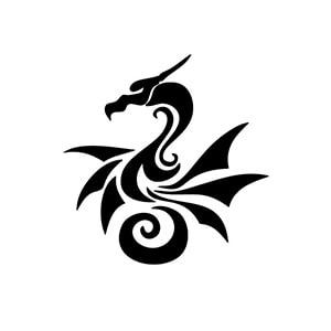 طرح اژدها برای اسپری تاتو موقت
