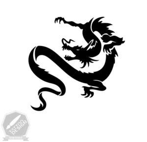 طرح سیاه و سفید دراگون (Dragon)