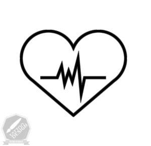 طرح سیاه و سفید قلب