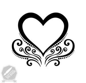 طرح قلب برای تاتو موقت