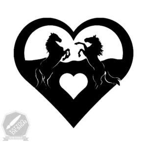 طرح سیاه و سفید اسب