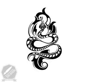 طرح سیاه و سفید مار