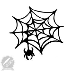 طرح سیاه و سفید تار عنکبوت