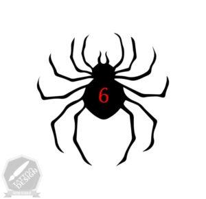 طرح سیاه و سفید عنکبوت