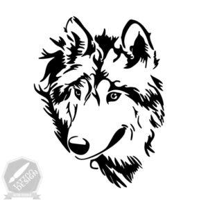 طرح خام گرگ برای تاتو
