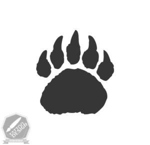 طرح سیاه و سفید خرس