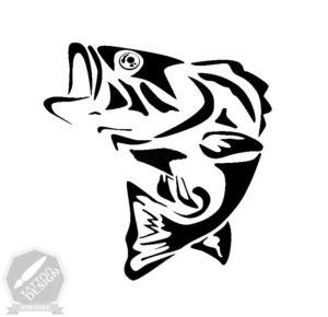 طرح سیاه و سفید ماهی