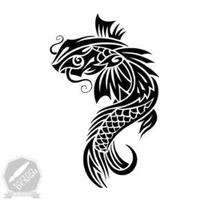 طرح ماهی برای تاتو