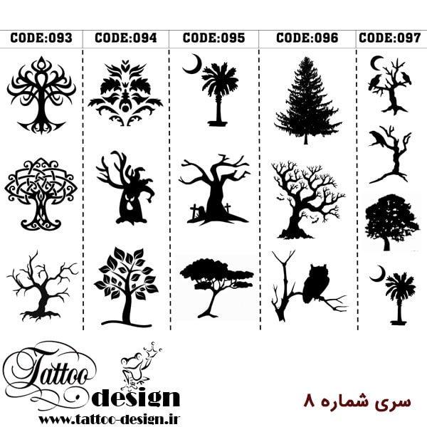 طرح درخت برای تاتو موقت روی پوست