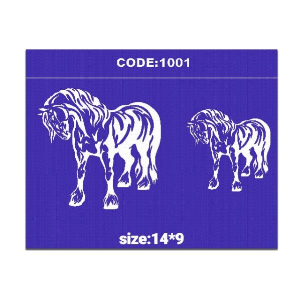 شابلون کد 1001 طرح اسب