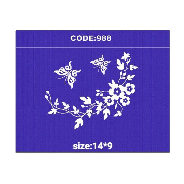 شابلون کد 988 طرح گل