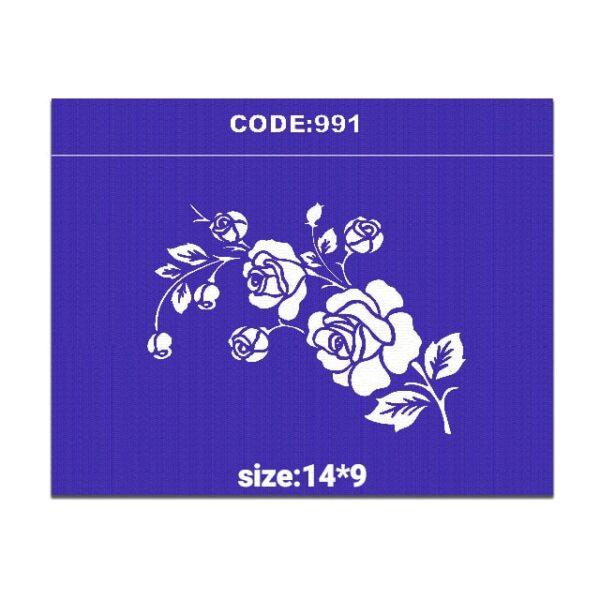 شابلون کد 991 طرح گل