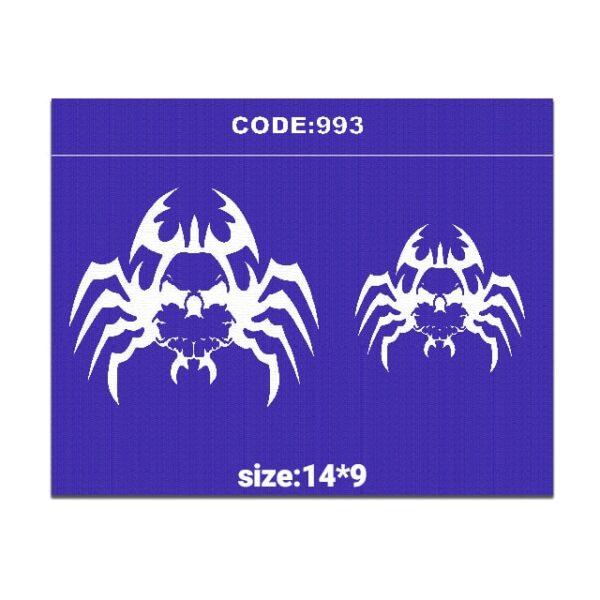 شابلون کد 993 طرح عنکبوت
