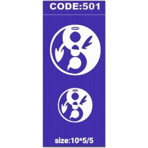 شابلون کد 501 طرح دایره
