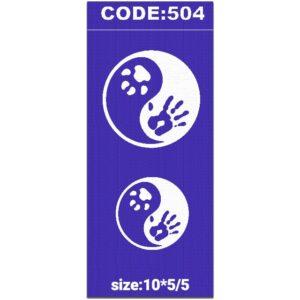 شابلون کد 504 طرح دایره