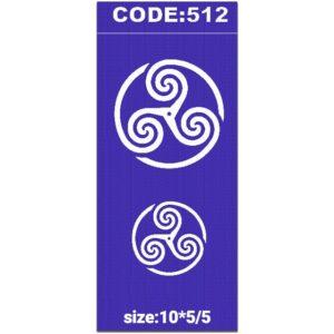 شابلون کد 512 طرح دایره