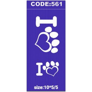 شابلون کد 561 طرح قلب