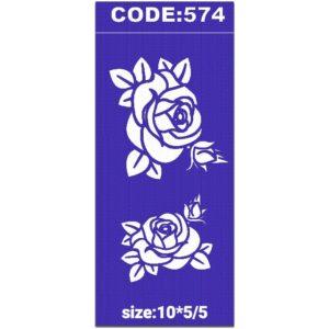 شابلون کد 574 طرح گل رز