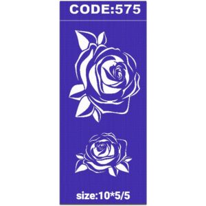 شابلون کد 575 طرح گل رز
