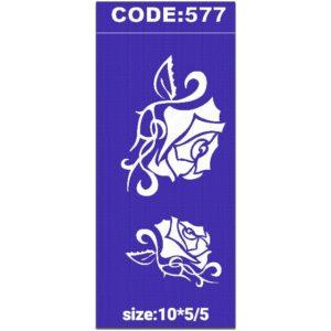 شابلون کد 577 طرح گل رز