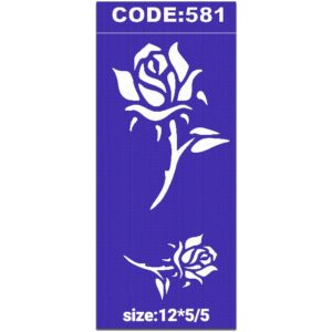 شابلون کد 581 طرح گل رز