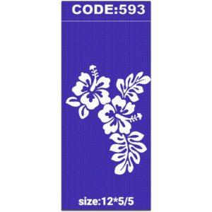 شابلون کد 593 طرح گل