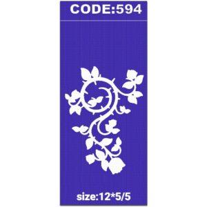 شابلون کد 594 طرح گل اسلیمی