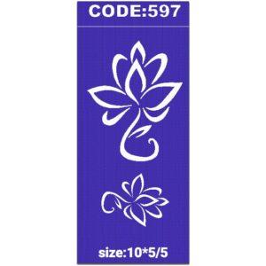 شابلون کد 597 طرح گل