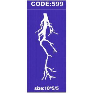 شابلون کد 599 طرح رعد و برق
