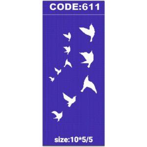 شابلون کد 611 طرح پرنده