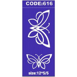 شابلون کد 616 طرح پروانه