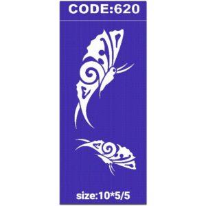 شابلون کد 620 طرح پروانه