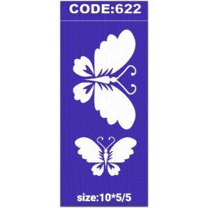 شابلون کد 622 طرح پروانه