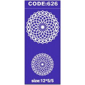 شابلون کد 626 طرح تذهیب