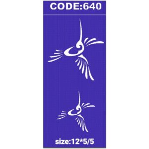 شابلون کد 640 طرح پرنده