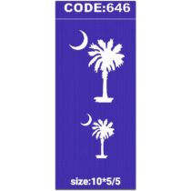 شابلون کد 646 طرح درخت نخل