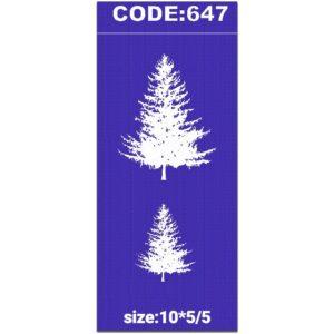 شابلون کد 647 طرح درخت کاج
