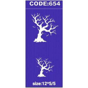 شابلون کد 654 طرح درخت خشک