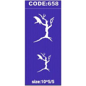 شابلون کد 658 طرح درخت