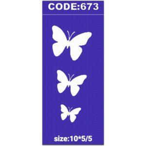 شابلون کد 673 طرح پروانه