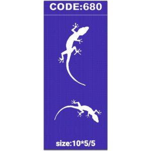 شابلون کد 680 طرح مارمولک