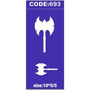 شابلون کد 693 طرح تبر